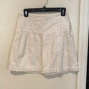 Calypso White Eyelet Skirt size S